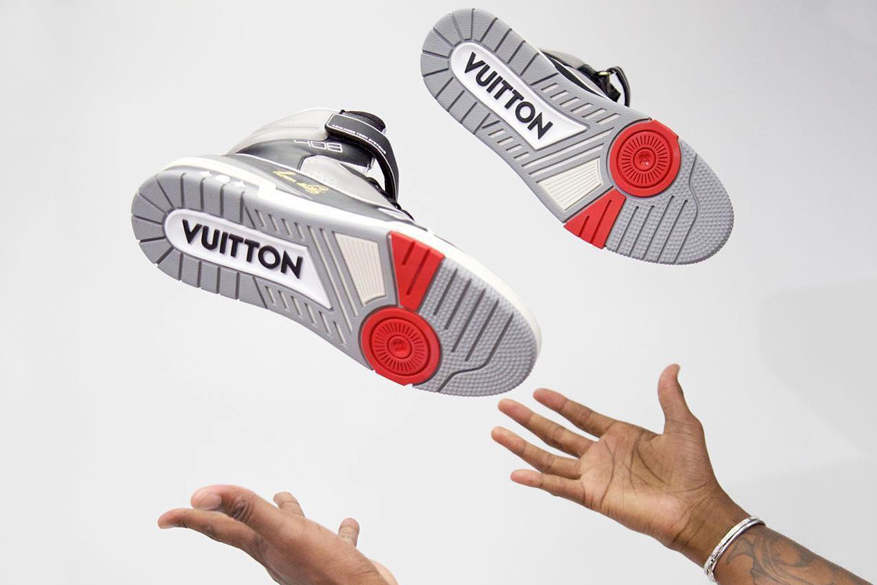 Virgil abloh louis vuitton sneaker shoe footwear first look revealed instagram Mathias Patillon Mathias Patillon Head of Design Men's Footwear LV high top release date info runway paris mens fashion week june 21 2018