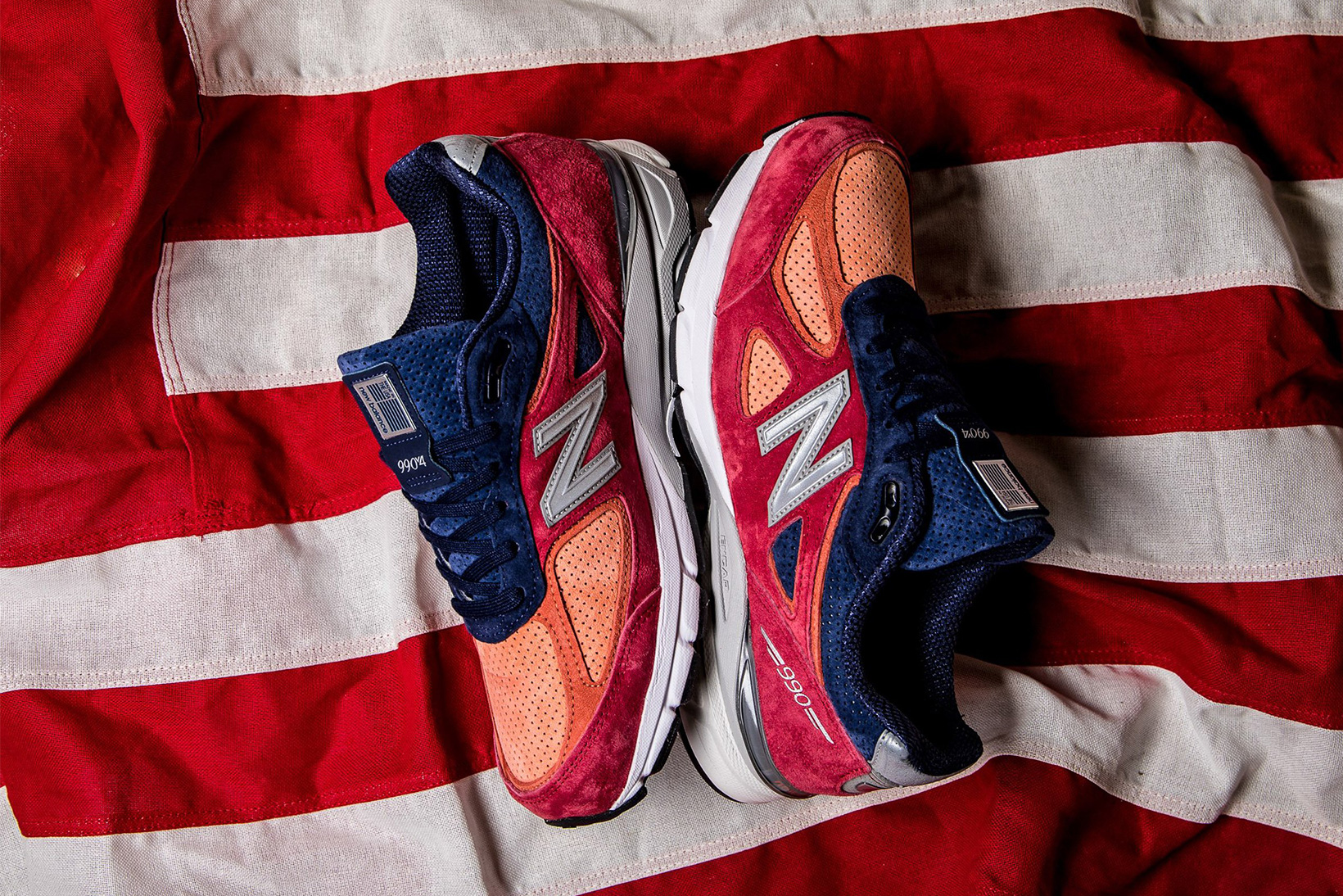 size 40 63d09 00676 New Balance 990 V4 Gets a Patriotic Makeover | HYPEBEAST