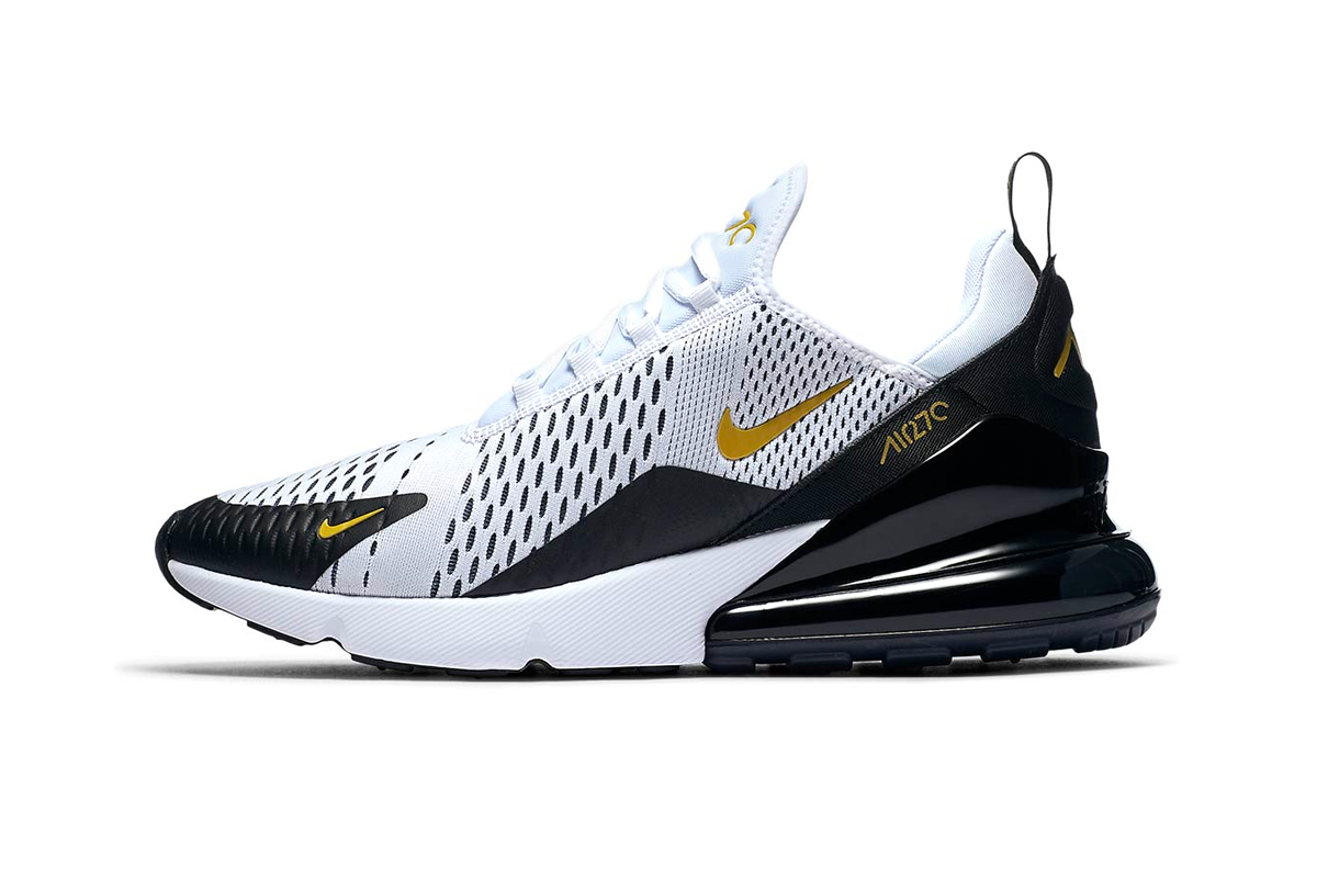 dd91221d Nike Air Max 270 White/Gold/Black | HYPEBEAST DROPS