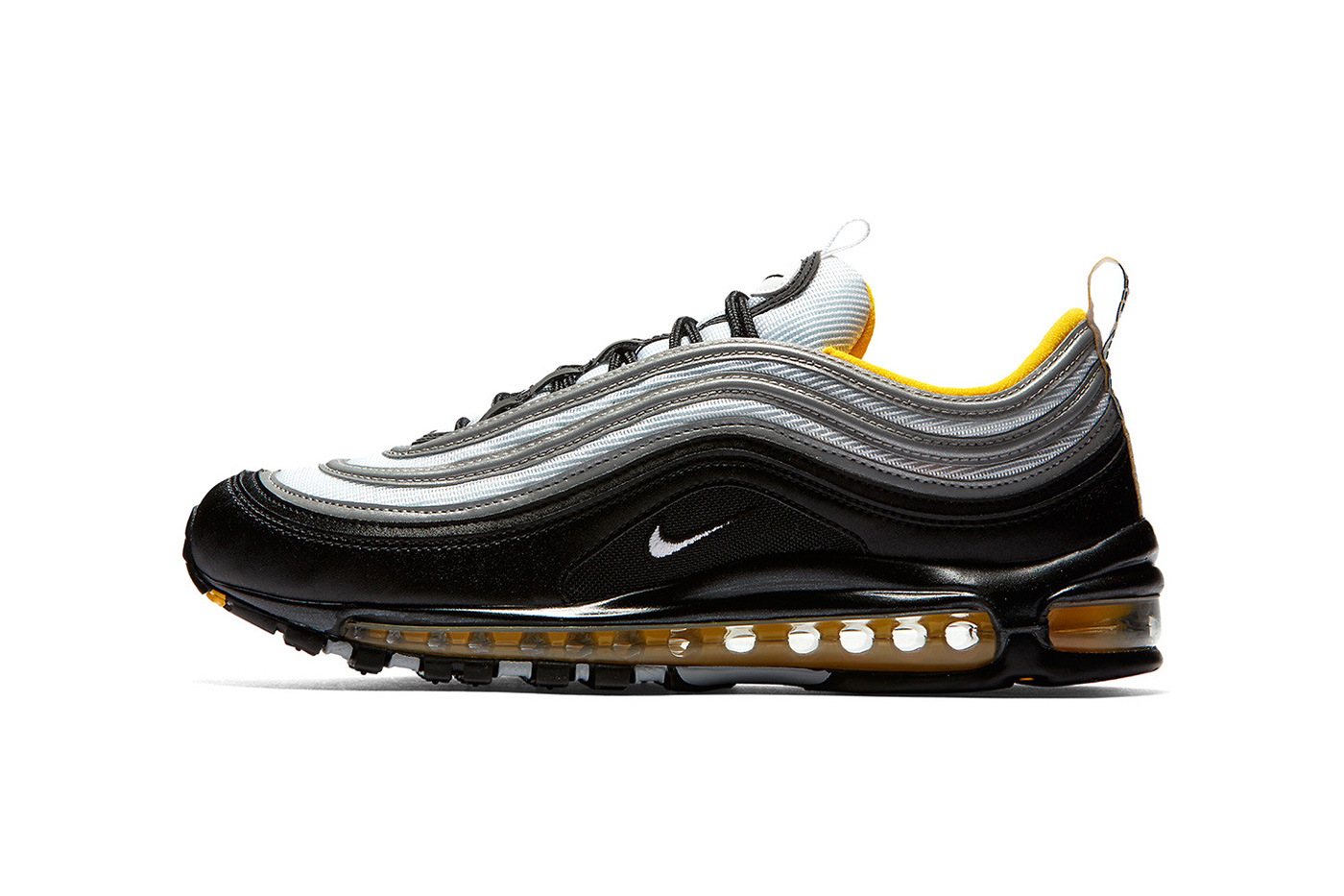 Nike Air Max 97 In Black White Yellow Hypebeast