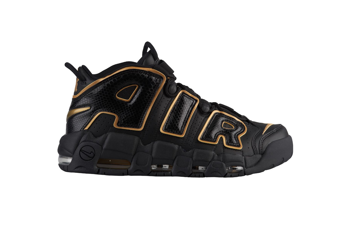 89f35554ee nike air more uptempo france black metallic gold 2018 footwear. Source: Sneaker  Bar Detroit