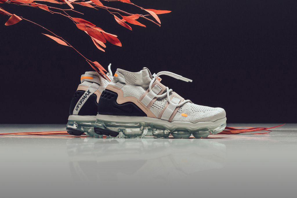 nike air vapormax utility flyknit light bone summit white feature sneaker boutique july 6 2018 drop release date official colorway look purchase buy shop feature sneaker boutique