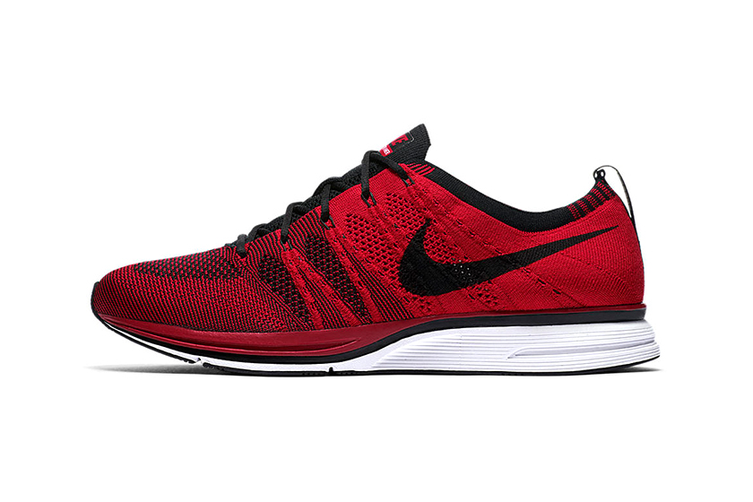 Nike Flyknit Trainer University Red Info Release Red Black White