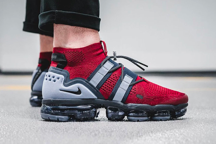 Nike Air VaporMax Utility New England Patriots Colorway release info drop date price purchase price July 12 Super Bowl Champion Team Red Black Obsidian Ashen Slate