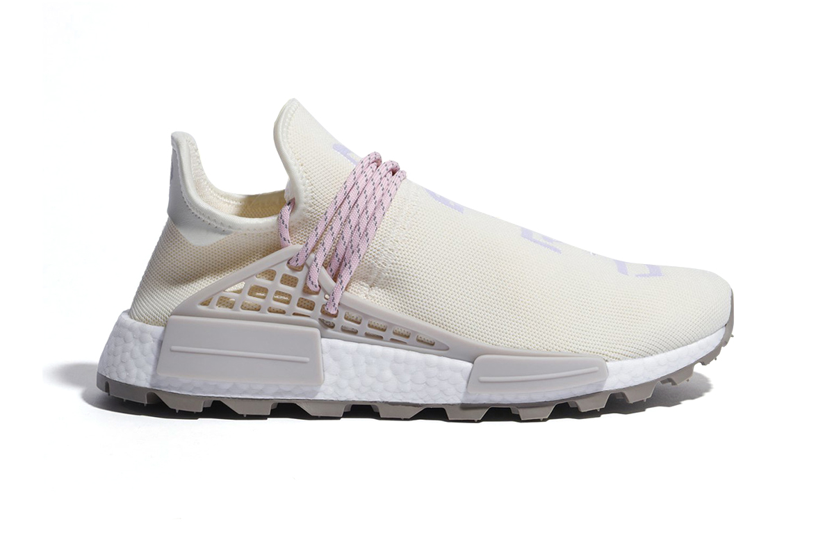 Pharrell williams adidas NMD Hu N.E.R.D. New Colorway pink cream first look sneaker release date price info adidas originals