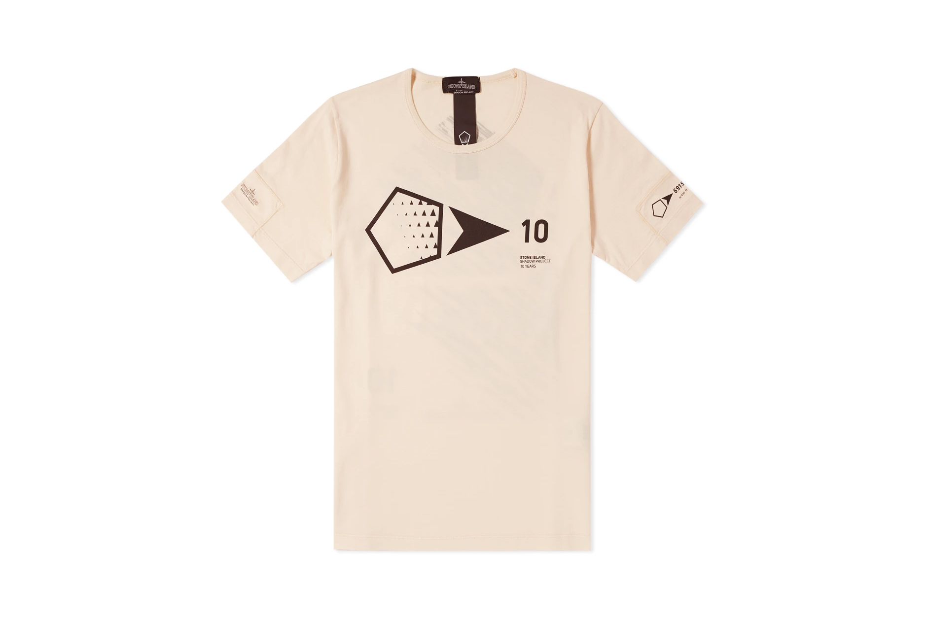 Stone Island Shadow Project 10th Anniversary Collection T-Shirt Black White Natural Pink