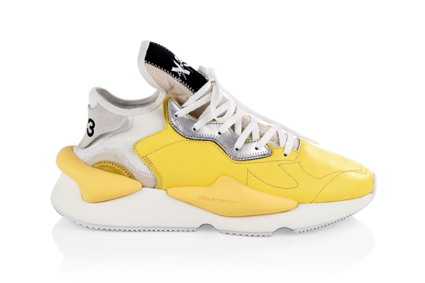 Y-3 Kaiwa Sneakers in Yellow Dad Shoes Yohji Yamamoto chunky runner white july 2018 drop release date info spring summer