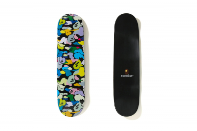 BAPE Multi Color Skate Deck