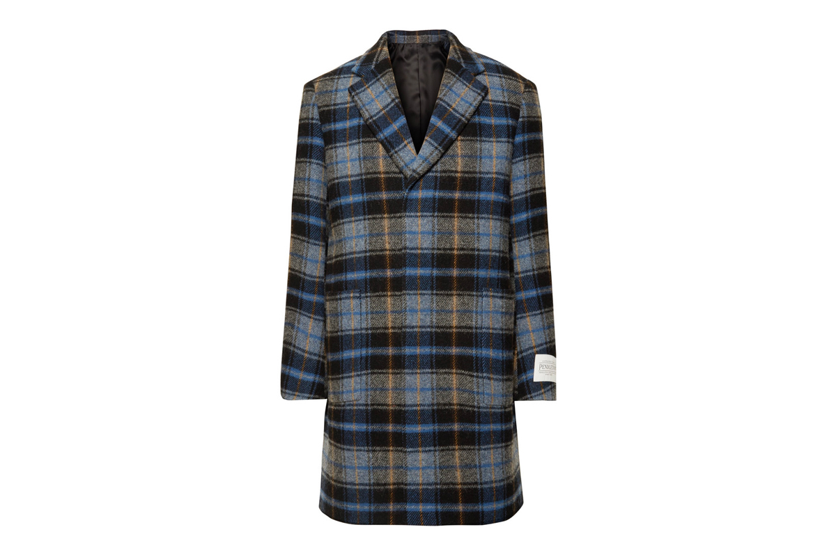 CALVIN KLEIN 205W39NYC Checked Wool Overcoat