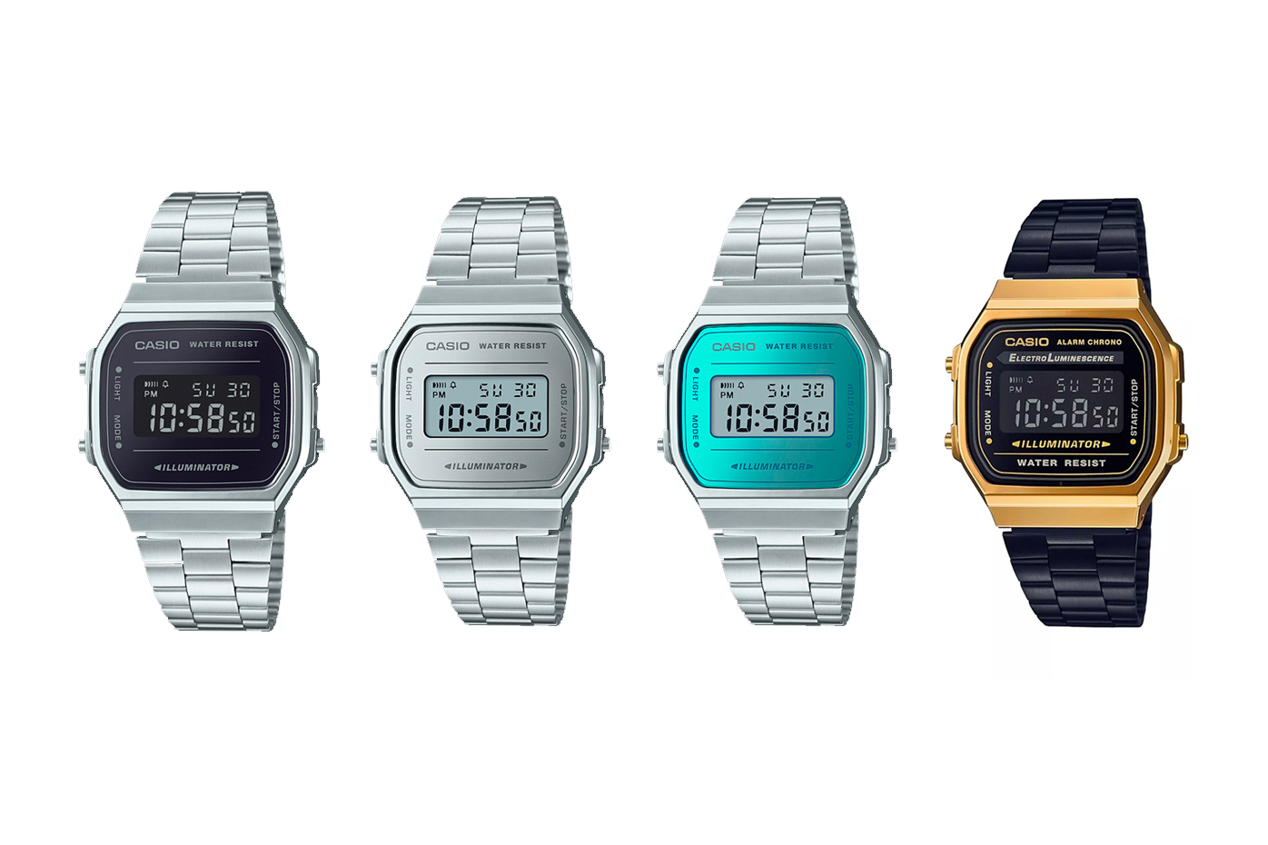 Casio Vintage Collection 2018 New Watches metallic gold silver teal price purchase digital retro accessories