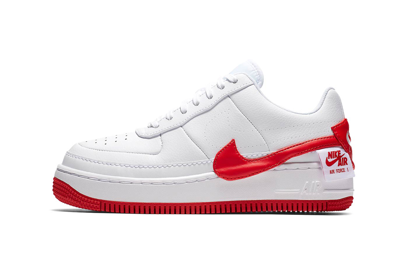 red and white nike air force 1