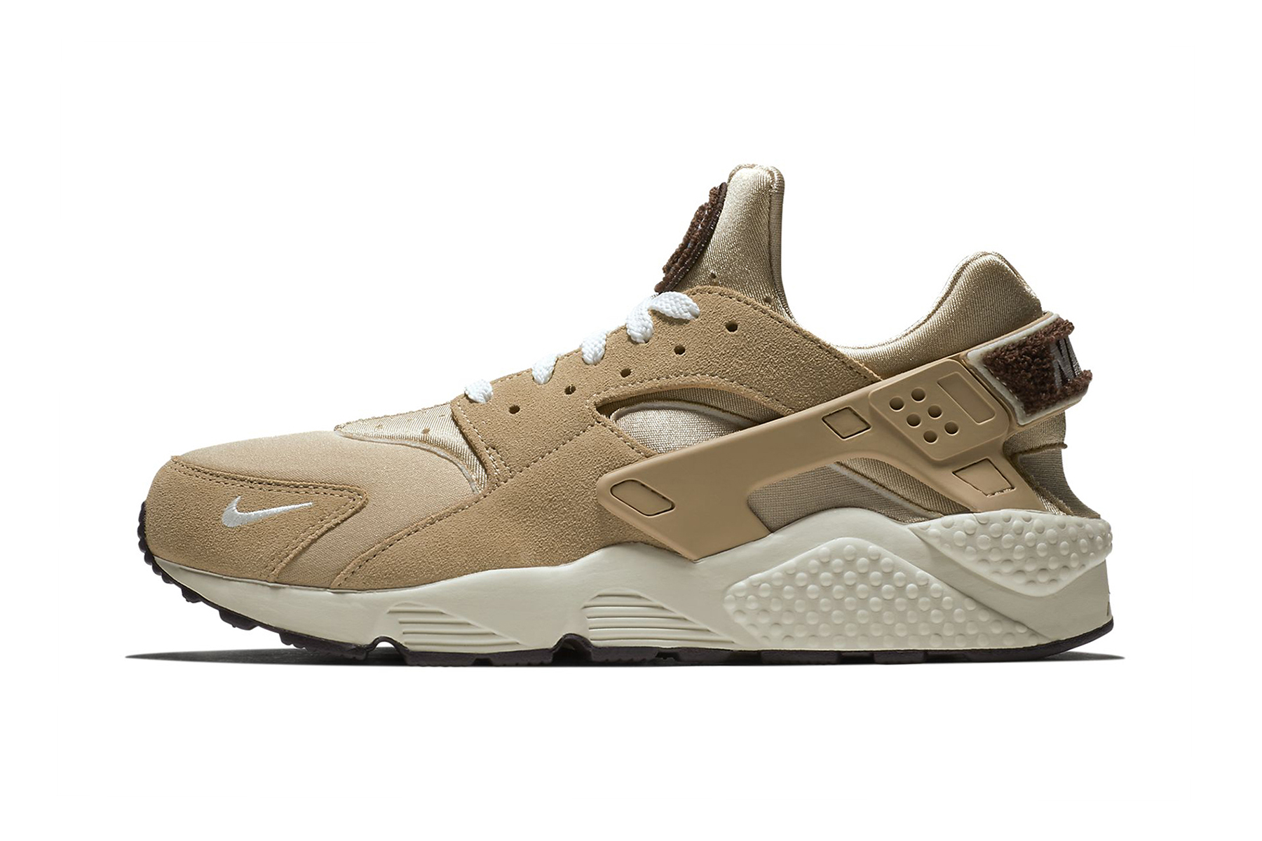 Nike Air Huarache Premium Release Date sneaker price info purchase chenille logo branding mini swoosh colorway Oil Grey/Rainforest/Bright Mango/Sail University Red/Blackened Blue/Provence Desert/Burgundy Ash/Royal Tint/Sail  Royal Tint/Blue Void/Neptune Green/Sail