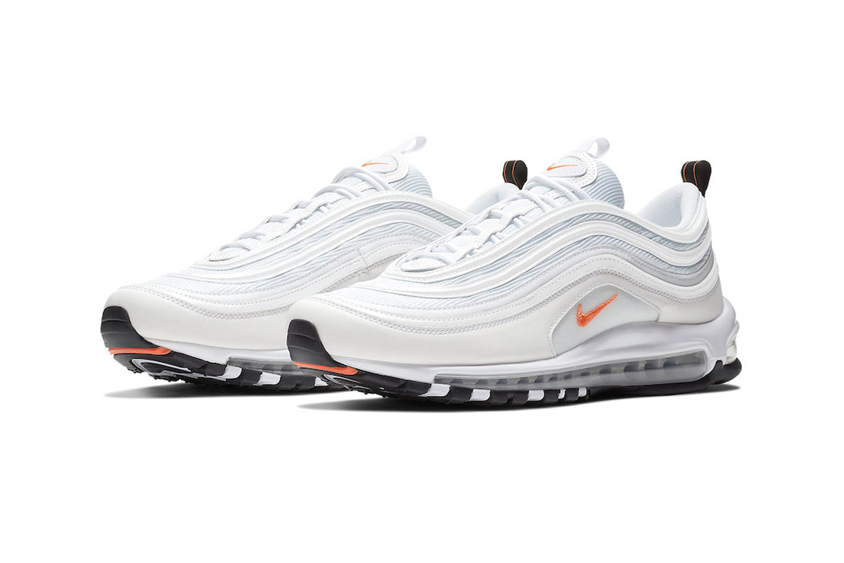 nike air max 97 orange white