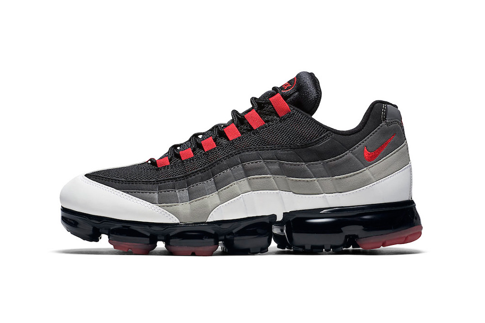 nike air vapormax 95 hot red 2018 footwear nike sportswear black white grey solar gray am95 avm95