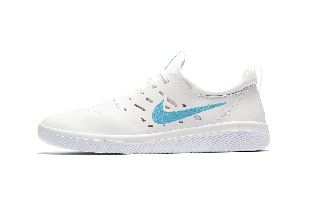 Nyjah Huston Nike SB Nyjah Free Receives a Clean Blue Fury Colorway White