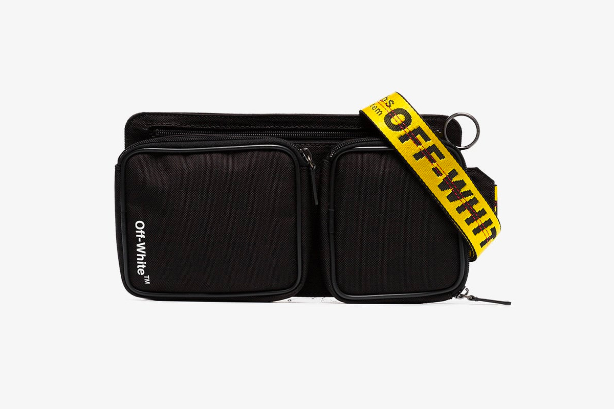 Off-White™ Cordura Logo Print Cross-Body Bag black release info accessories