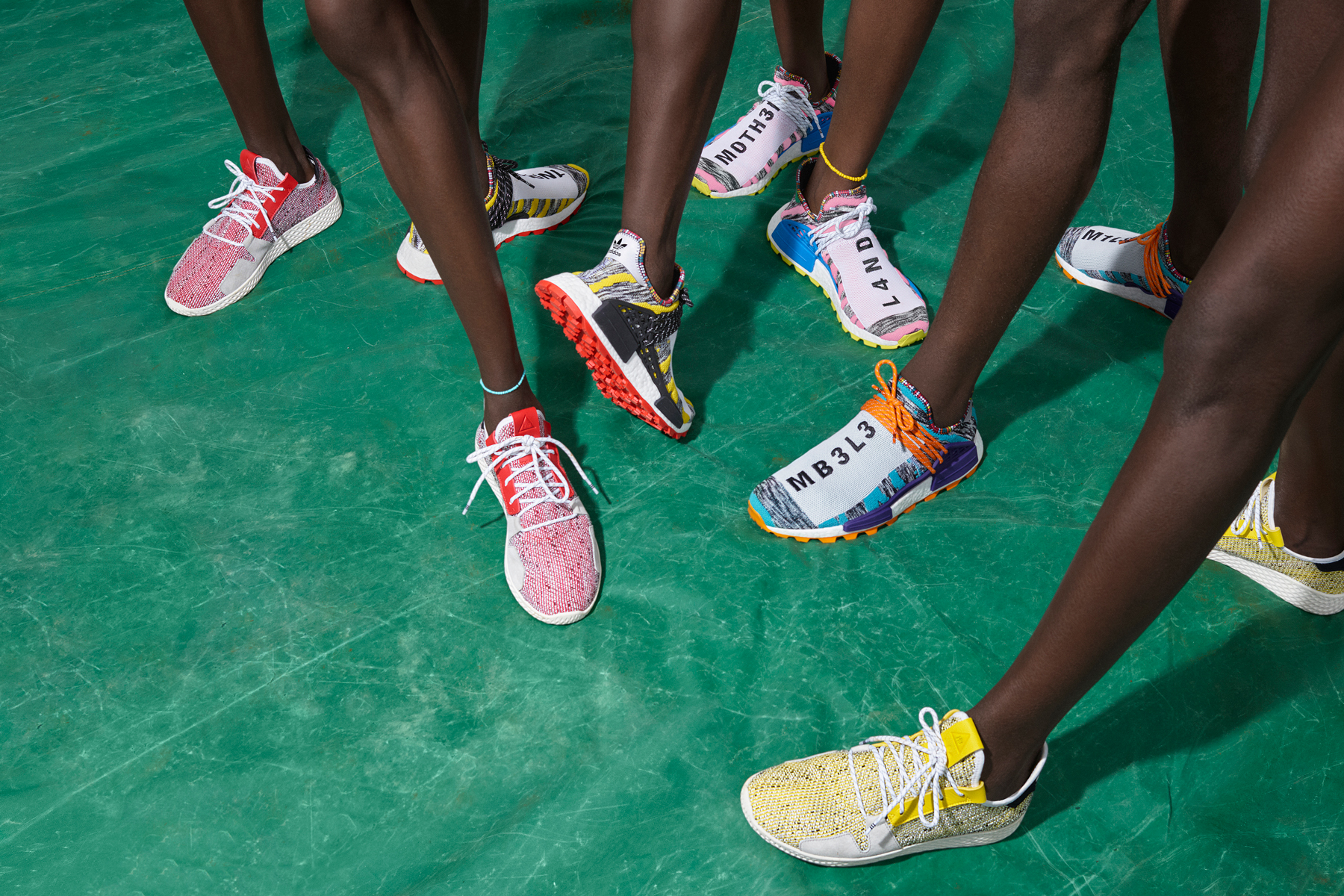 pharrell williams adidas solar hu collection august 2018 originals hu tennis v2 nmd footwear