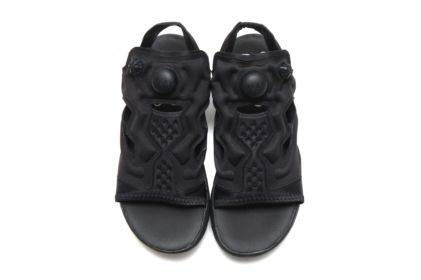 88427742c Reebok Unveils All Black Instapump Fury Sandal Hypebeast Drops. Reebok  Instapump Fury Og Black White End