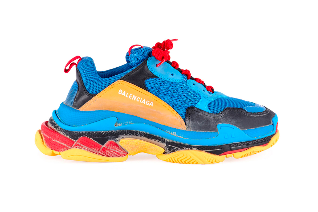 Balenciaga Triple S Blue Orange black yellow red release info sneakers