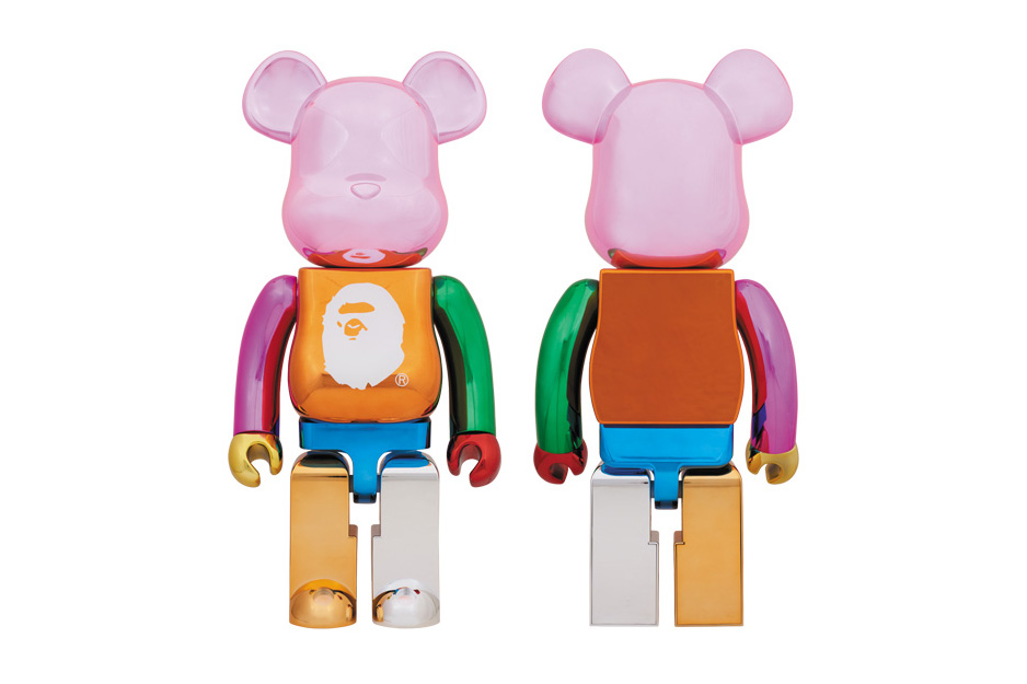 BAPE 25th Anniversary Multi-Colored Foil BE@RBRICK