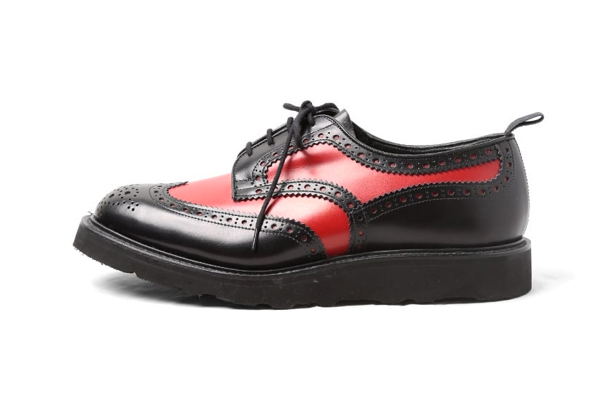 Engineered Garments Trickers Combo Brogue Capsule Collection Black Red Blue Contrast Stitch Golf Loafer Brown mens footwear leather shoes purchase release date info price