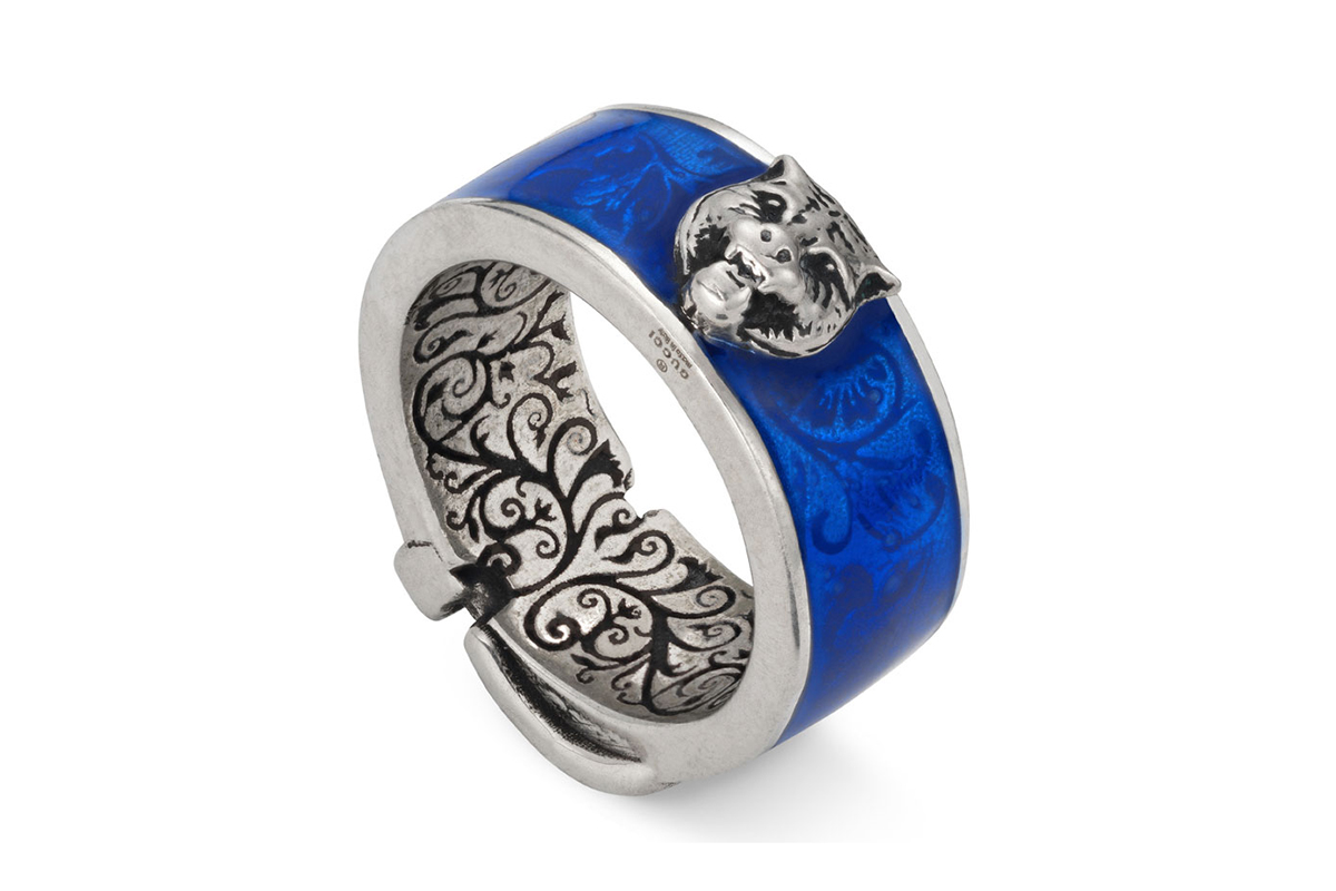 Gucci Cat Sterling Silver Ring release info accessories blue feline