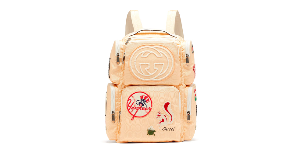 Gucci Moiré Canvas Patches Backpack