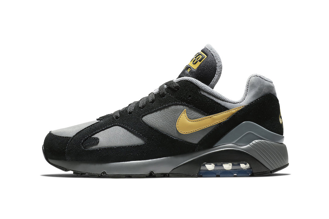 Nike Air Max 180 Grey Black Wheat Gold fall 2018 release sneakers leather suede