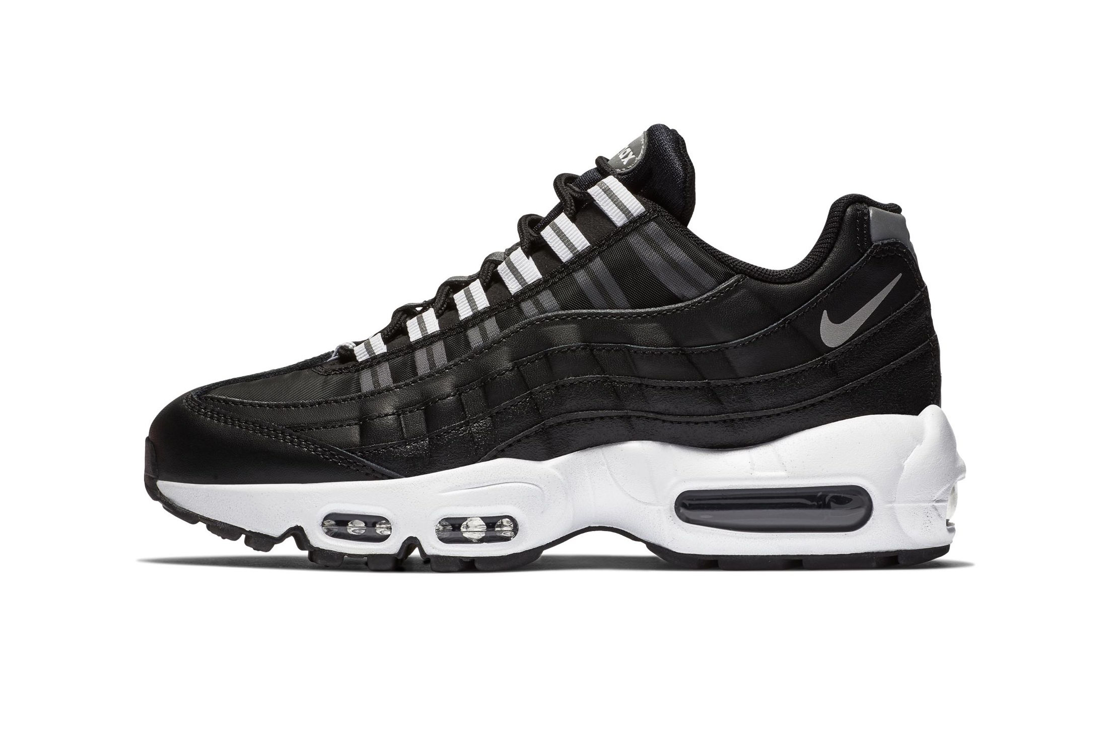 Nike Air Max 95 in Black, Reflect Silver & White | HYPEBEAST