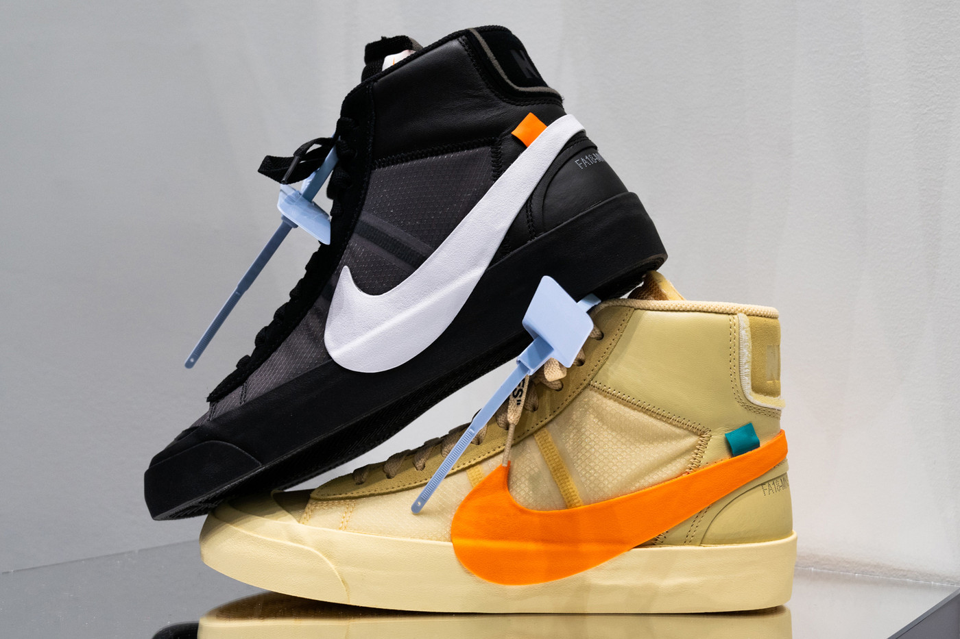 Off-White x Nike Blazer Spooky Pack Sneakers Shoes Trainers Kicks Footwear Cop Purchase Buy Release Date Details The Ten Virgil Abloh Halloween Orange Black