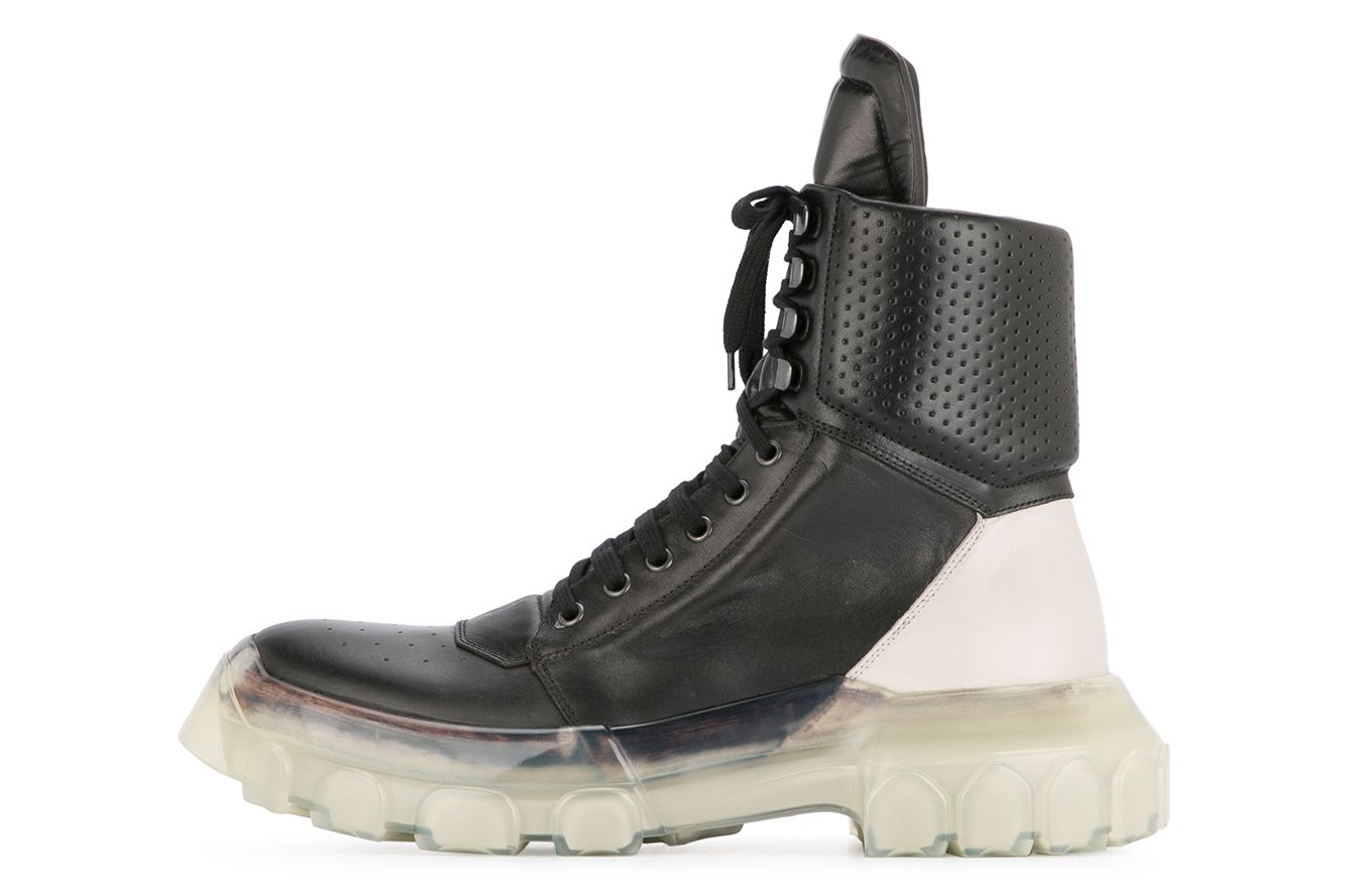 Rick Owens Tractor Dunk Boots Black/White