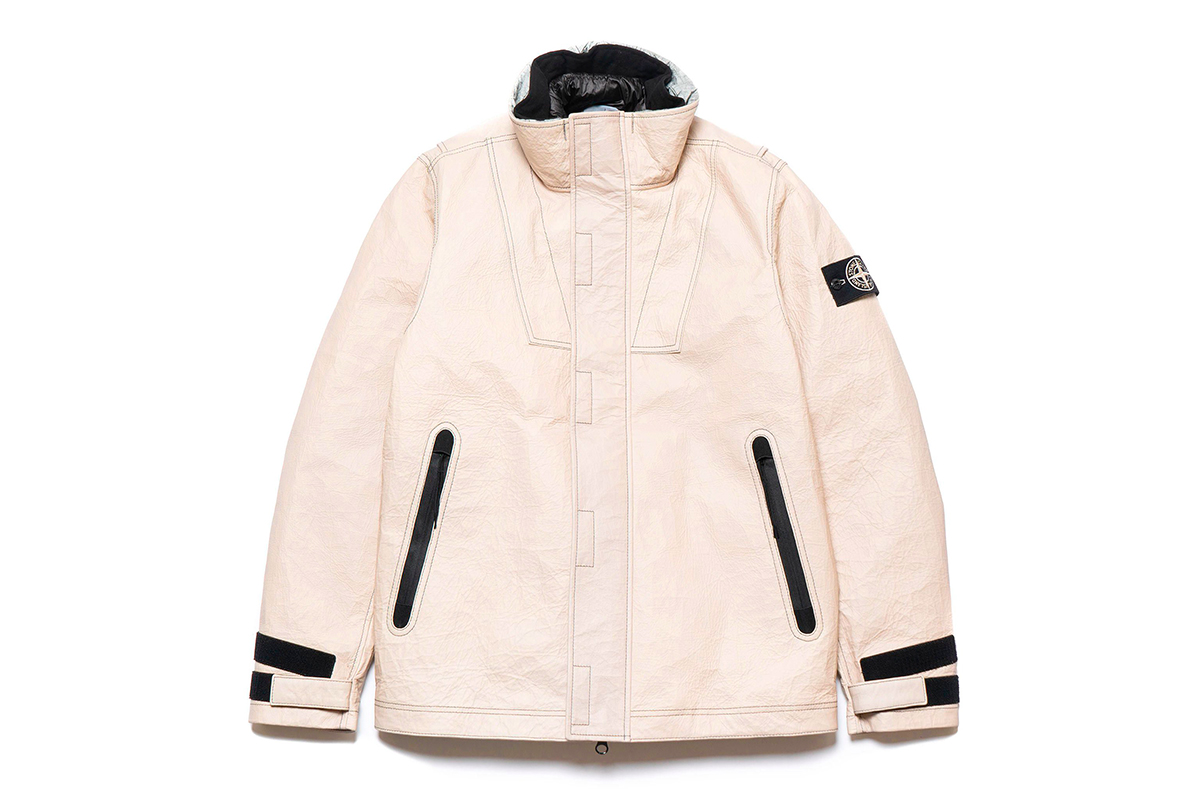 Stone Island Dyneema Bonded Leather Ice Jacket Beige ECCO The Dyneema Project Fall Winter 2018