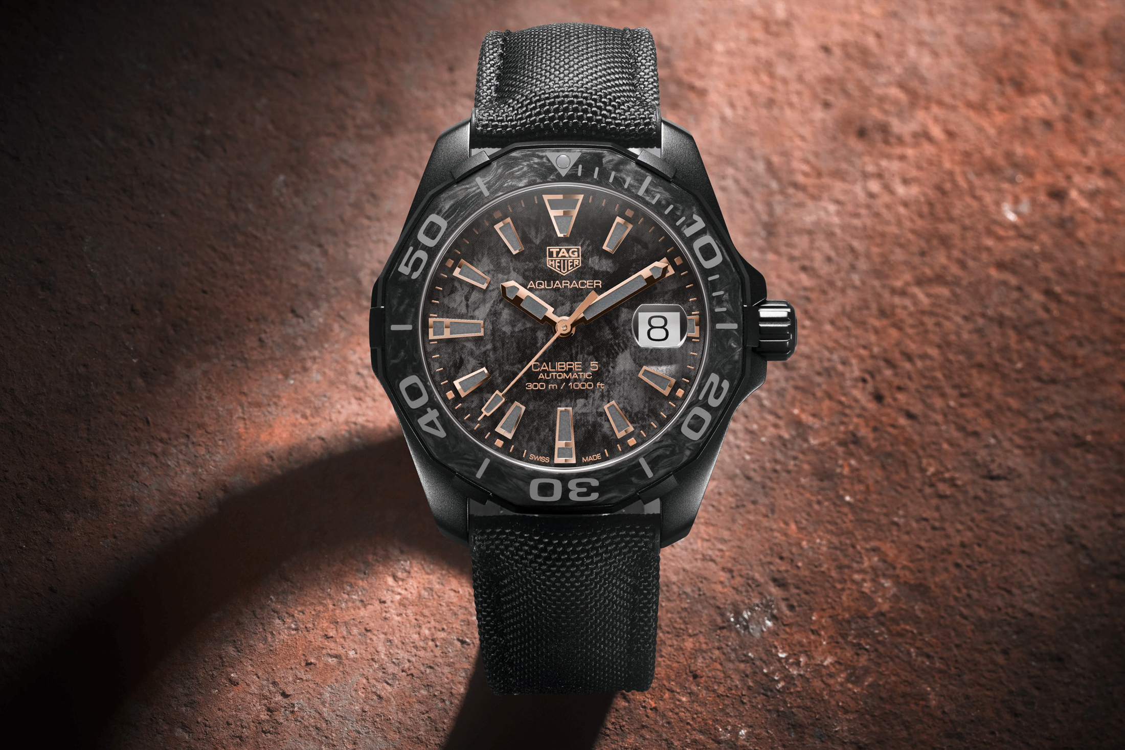 Tag Heuer Carbon Aquaracer First Look watches accessories timepiece titanium watches time piece wrist watches carbon luxury
