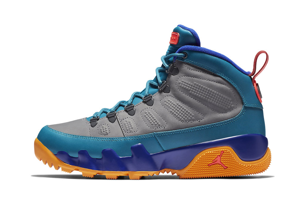 Air Jordan 9 Boot NRG Grey/Blue/Orange