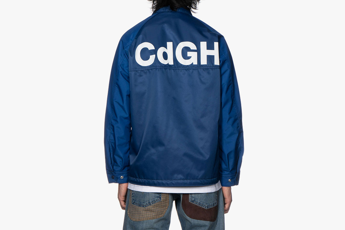 COMME des GARÇONS HOMME Two Toned Logo Coach Jacket Red Green Blue HAVEN CdGH