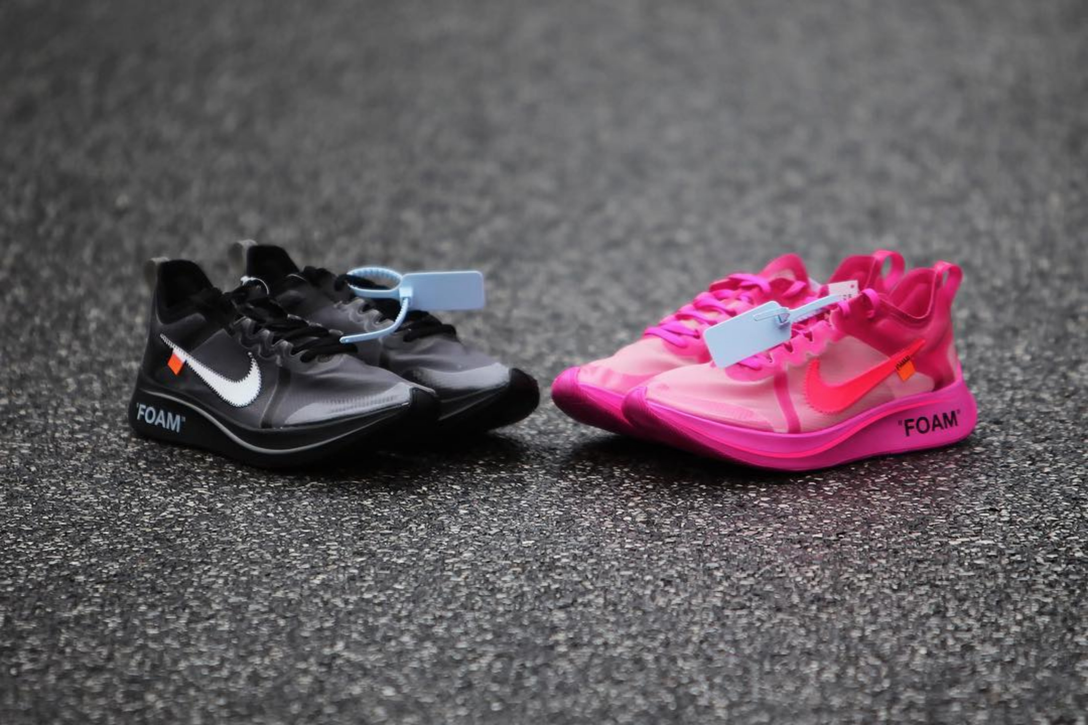 Off-White™ x Nike Zoom Fly SP Pink & Black Date