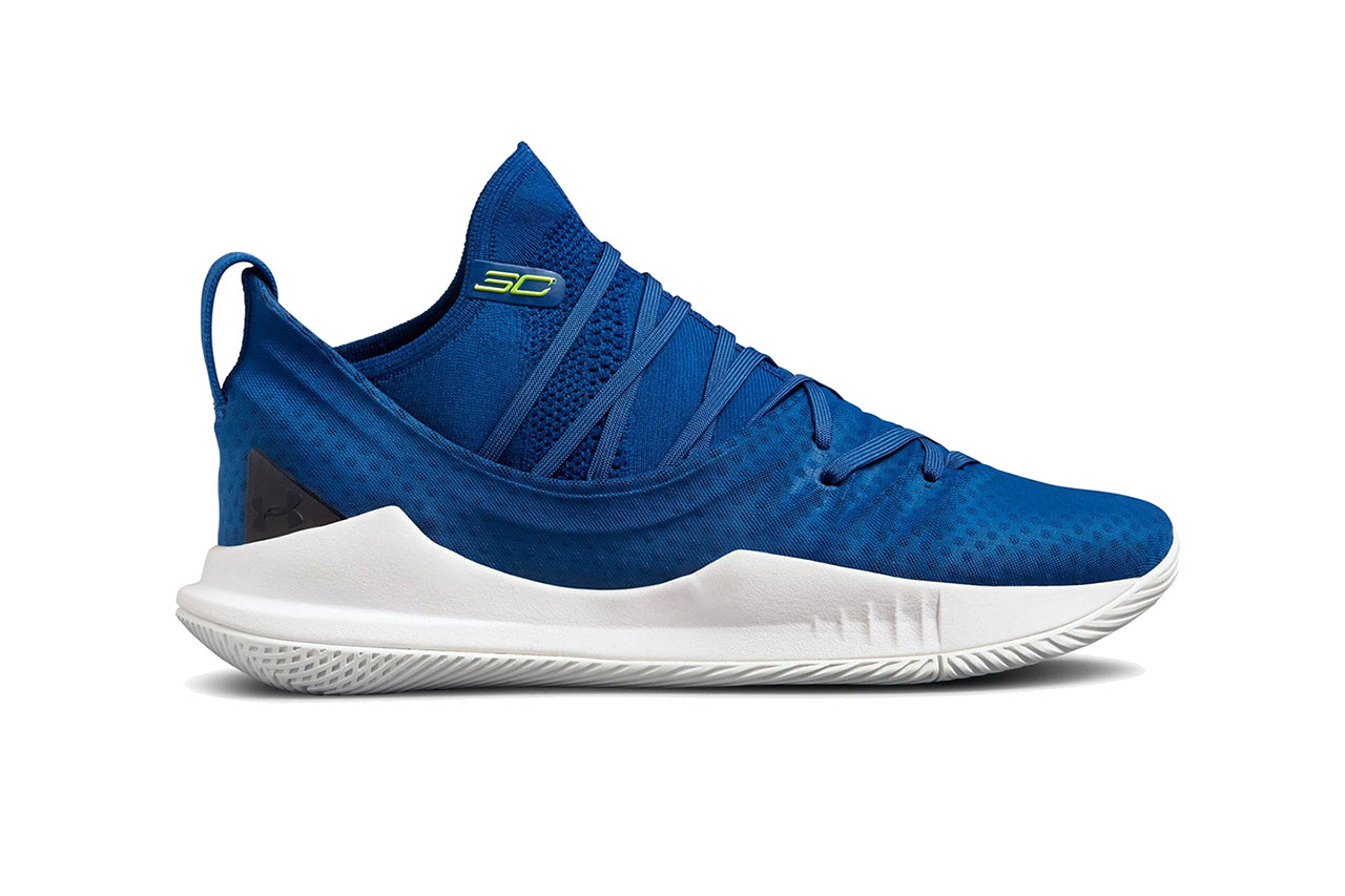 under armour curry 5 moroccan blue white 2018 october footwear stephen curry golden state warriors