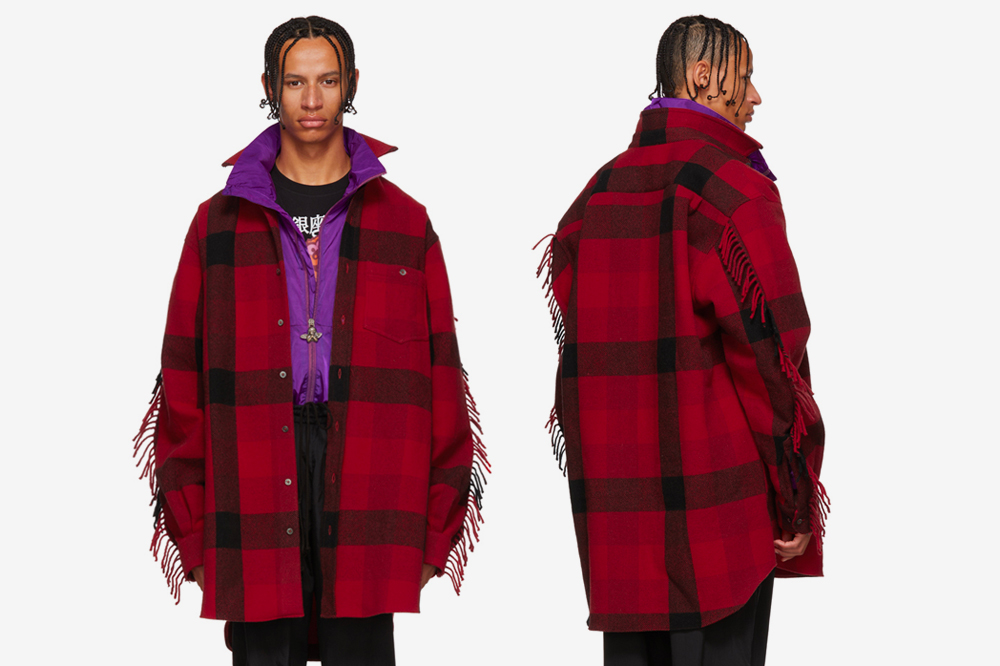 Vetements Fall/Winter 2018 Red Flannel Western Shirt