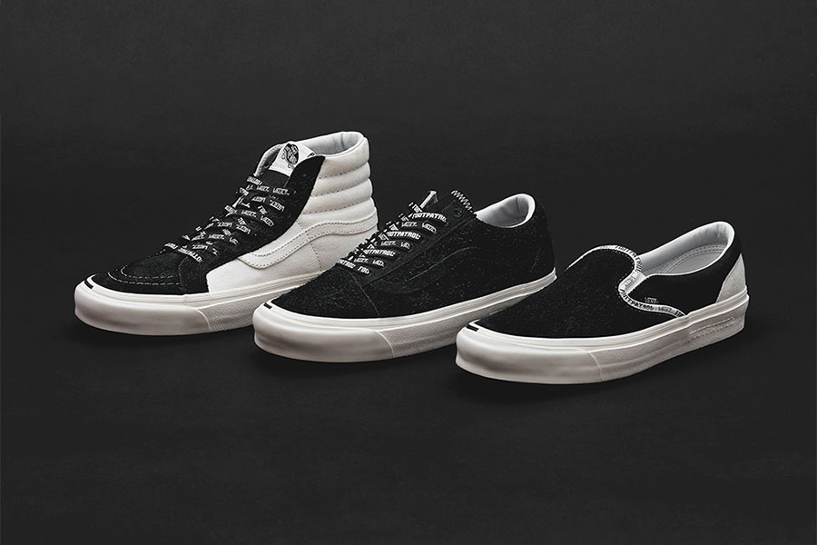 Footpatrol x Vans Vault Collection Release Date Classic Slip-On LX, Sk8-Hi  Old Skool LX price info collaboration sneaker colorway black