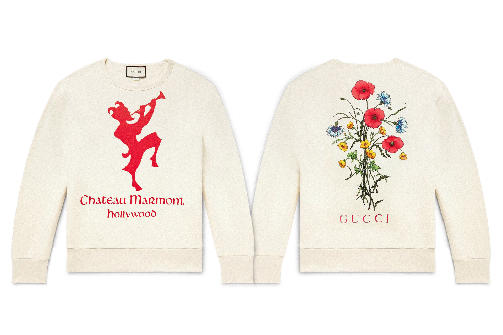 Gucci Chateau Marmont Loopback Sweatshirt printed italy guccy knits tops jumpers winter fashion luxury crewneck made in Italy