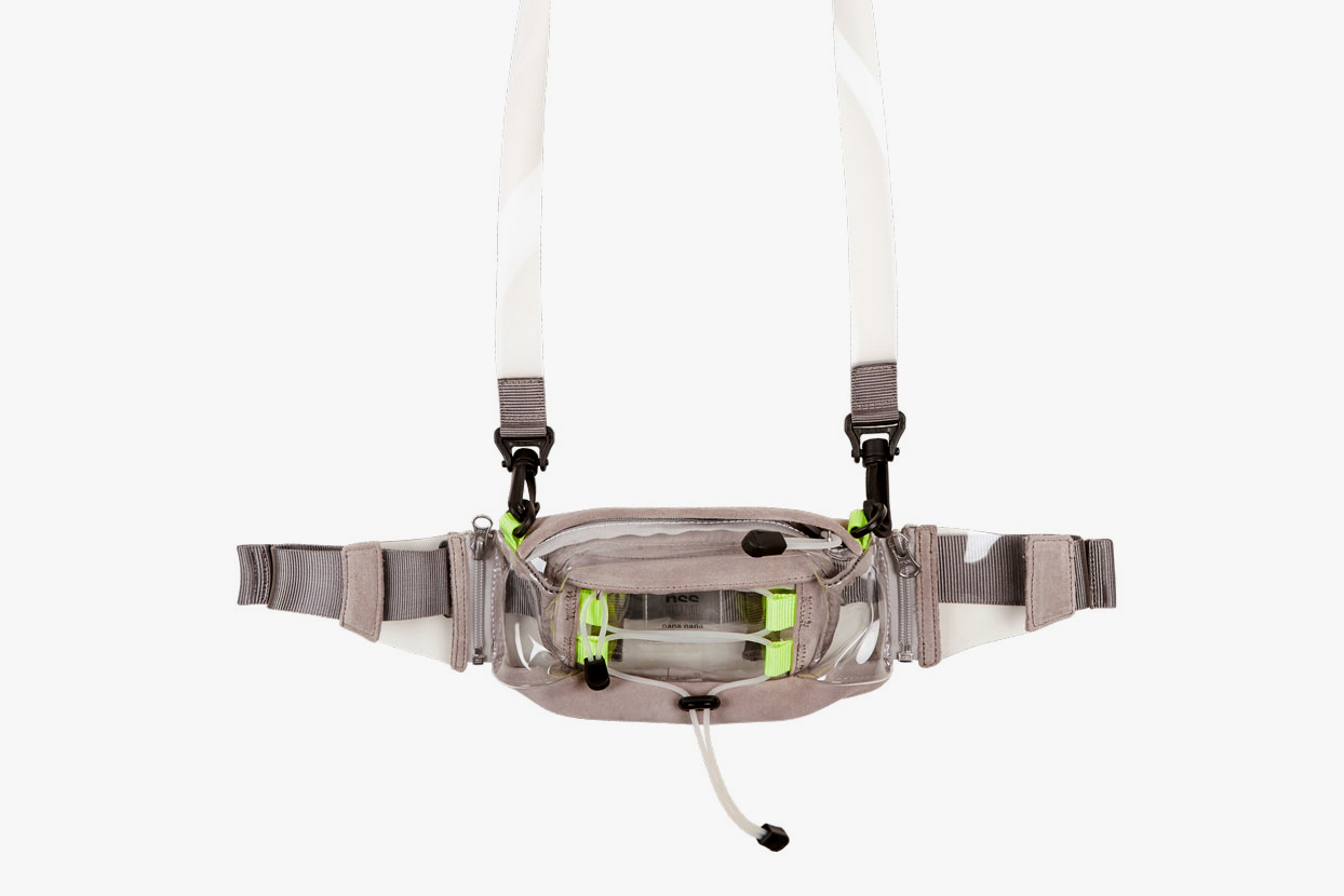 nss magazine nana nana waist bag pvc transparent suede leather shoulder waist bag harness strap collaboration drop release info november 2018 october