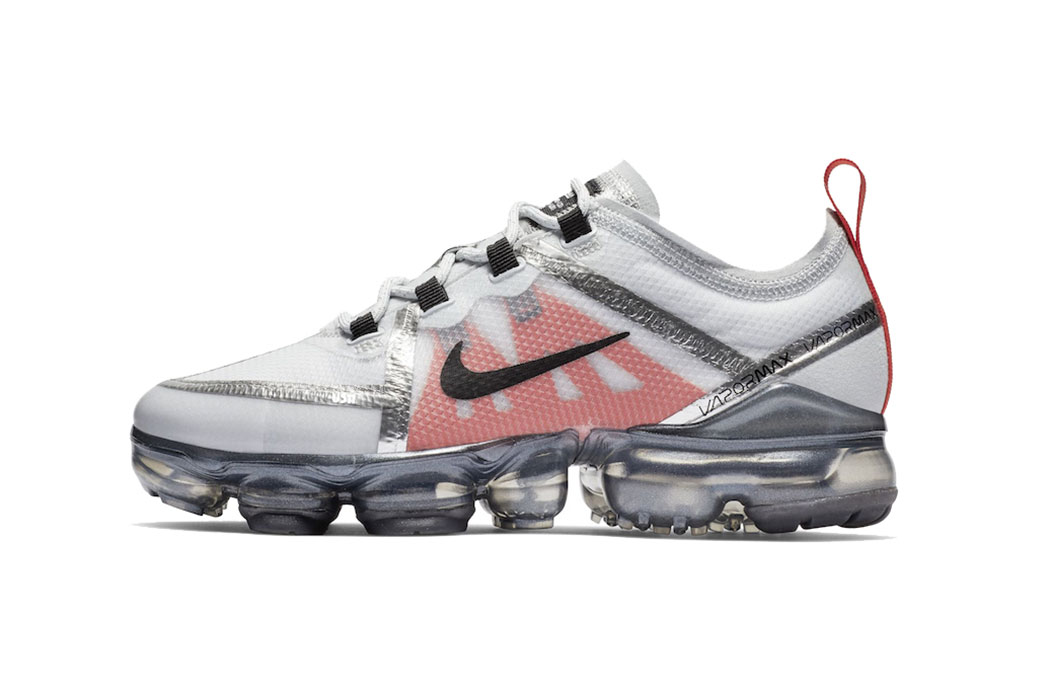 Nike Air VaporMax 2019 Metallic Silver Red  e2ff6d498