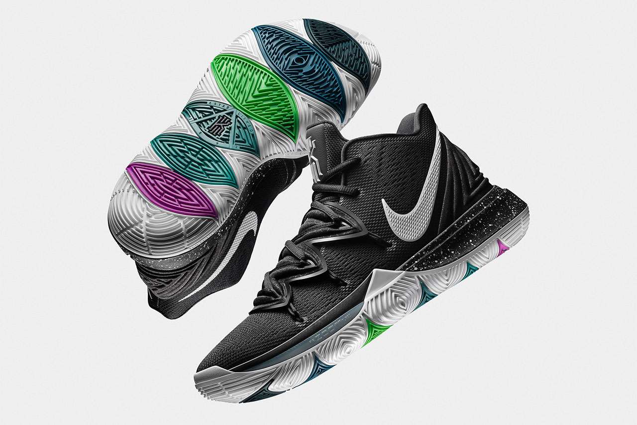 nike kyrie 5 nike basketball kyrie irving 2018 footwear black white blk mgc