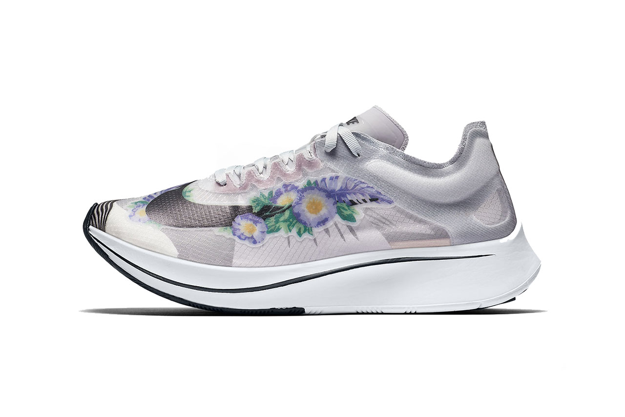 nike zoom fly sp floral pure platinum white black 2018 november nike running footwear