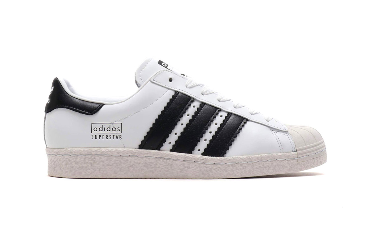 8a71da84d2622c adidas Superstar 80s Enlarged Stripes atmos Running White Core Black Crystal  White Core Black