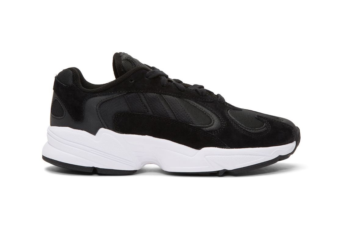 adidas Yung-1 black white originals chunky oversized dad 90s sneaker footwear trainers cop buy purchase SSENSE