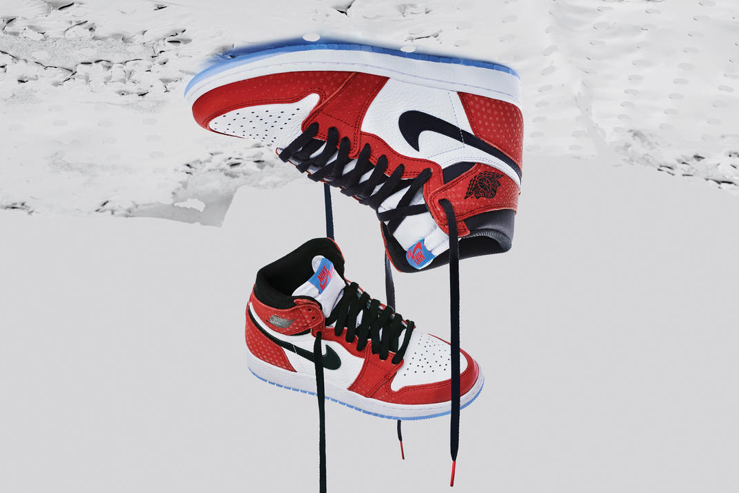 Air Jordan 1 Origin Story Shoe Details Nike Sneakers Shoes Trainers Kicks Footwear Spider-Man: Into the Spider-Verse Miles Morales
