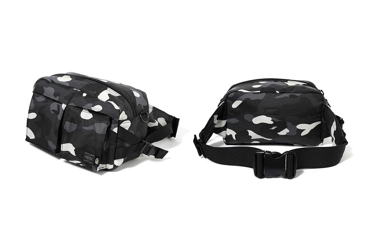 2c51569025 bape porter glow in the dark city camouflage waist shoulder bag fanny pack  drop release date