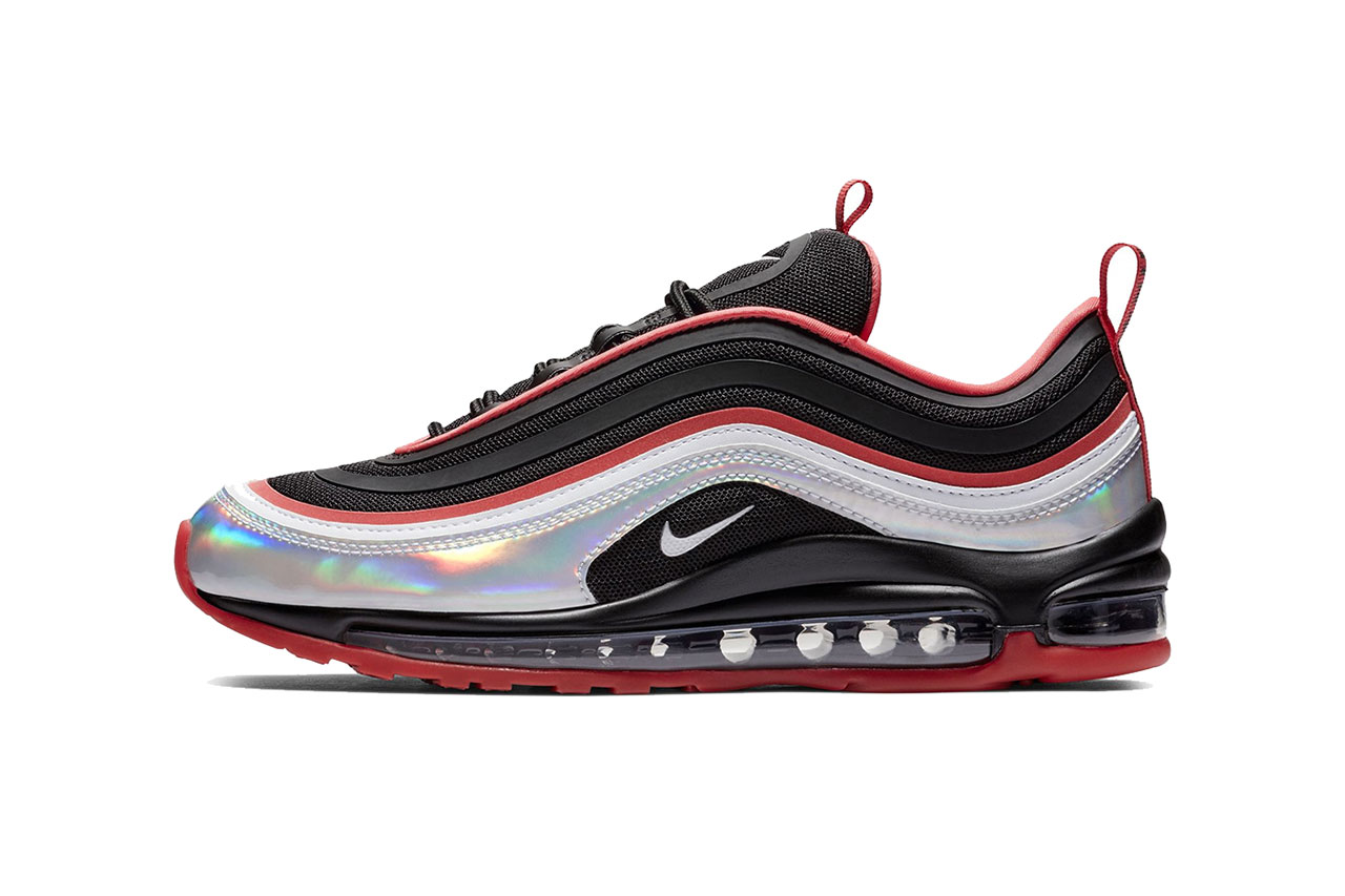 nike air max 97 ultra iridescent black red silver 2018 footwear nike sportswear