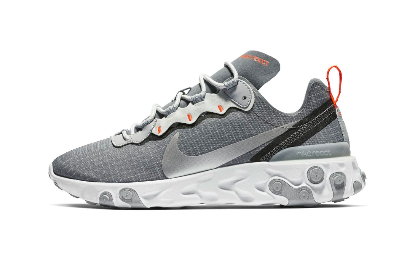 Nike React Element 55 Grey Orange Grid White Release Info Date